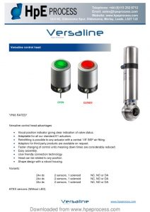thumbnail of Versaline Control Head