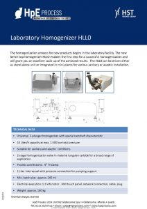 thumbnail of HpE Process Homogeniser Datasheets