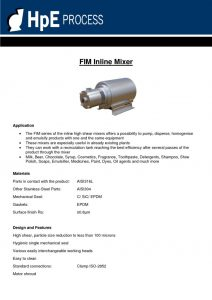 thumbnail of FIM Inline Mixer