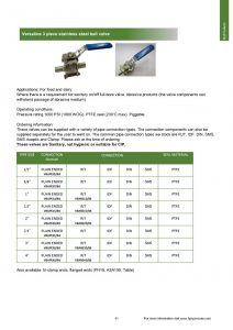 thumbnail of 3 Piece Ball Valve Datasheet